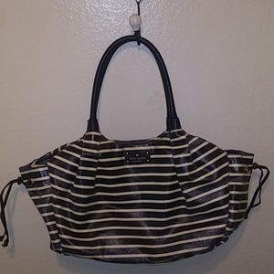 Kate Spade NY striped Stevie leather trim baby bag